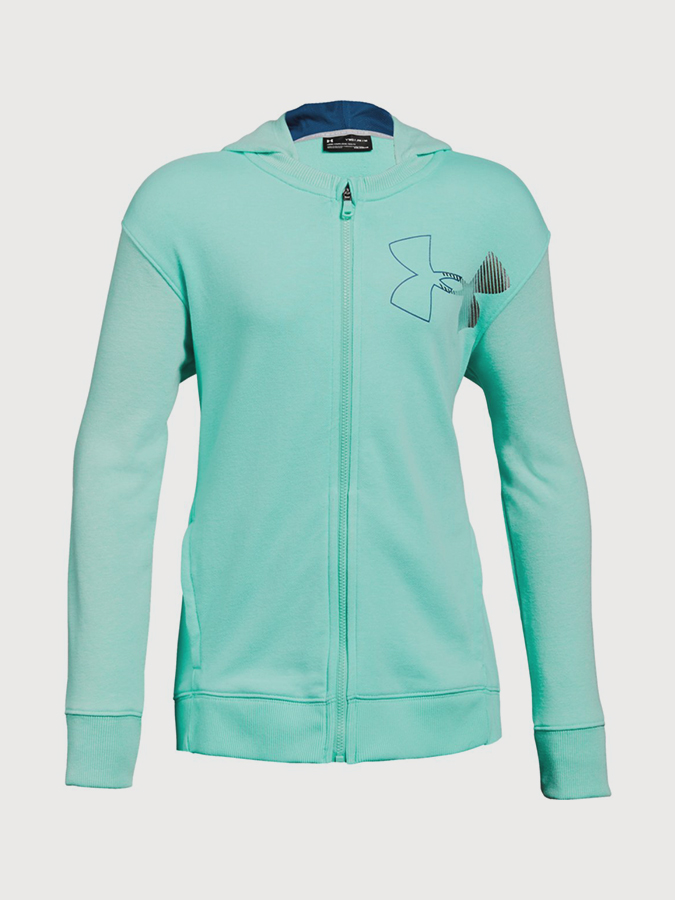 Mikina Under Armour Threadborne Terry Full Zip Zelená