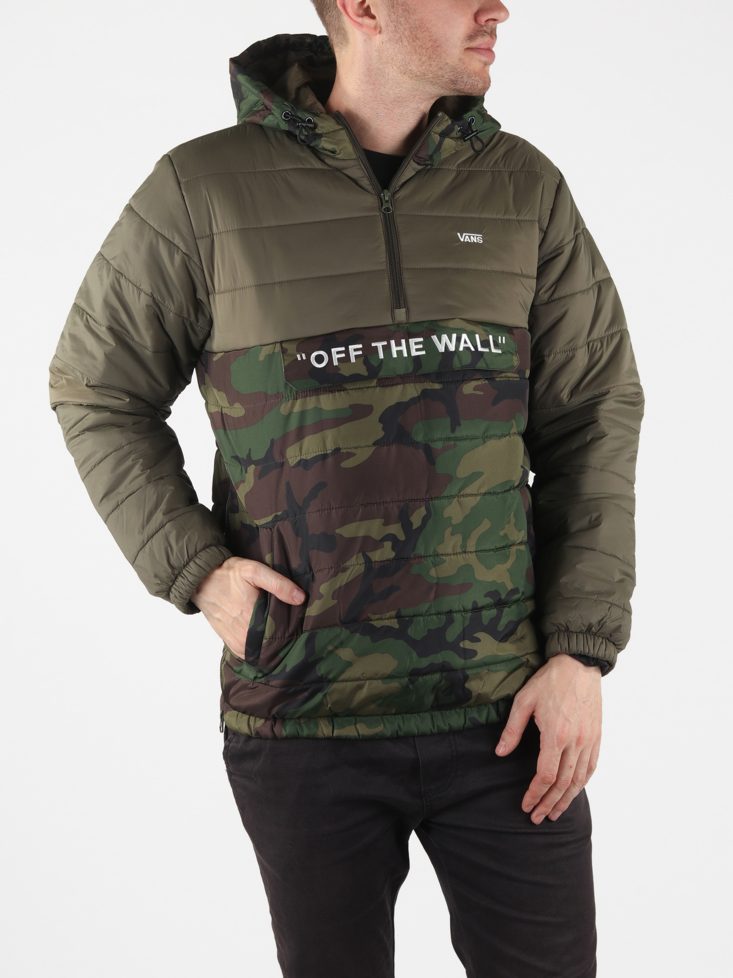 Bunda Vans Mn Carlon Anorak Puf Camo/Grape Leaf Zelená