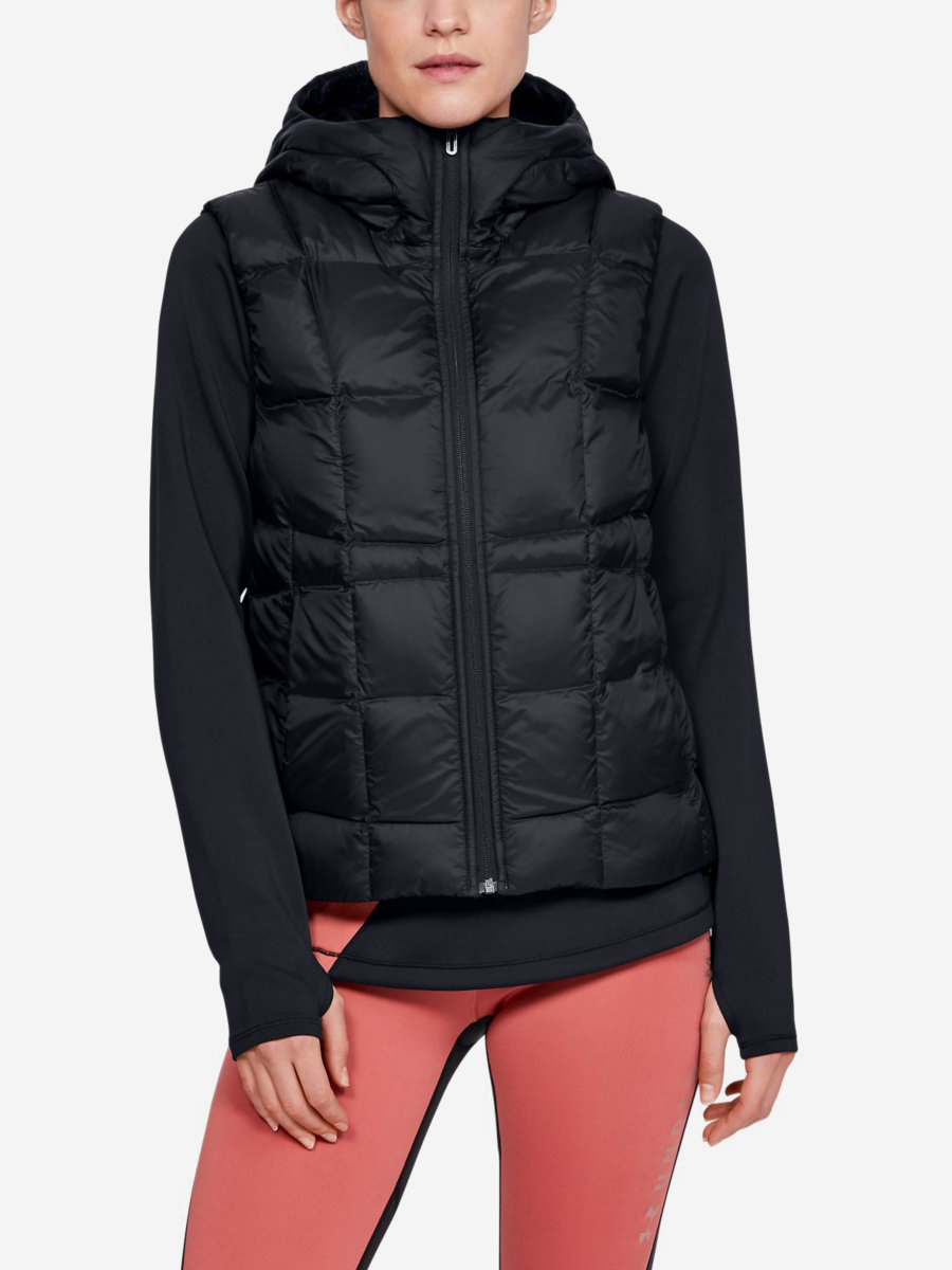 Bunda Under Armour Down Vest-Blk Černá