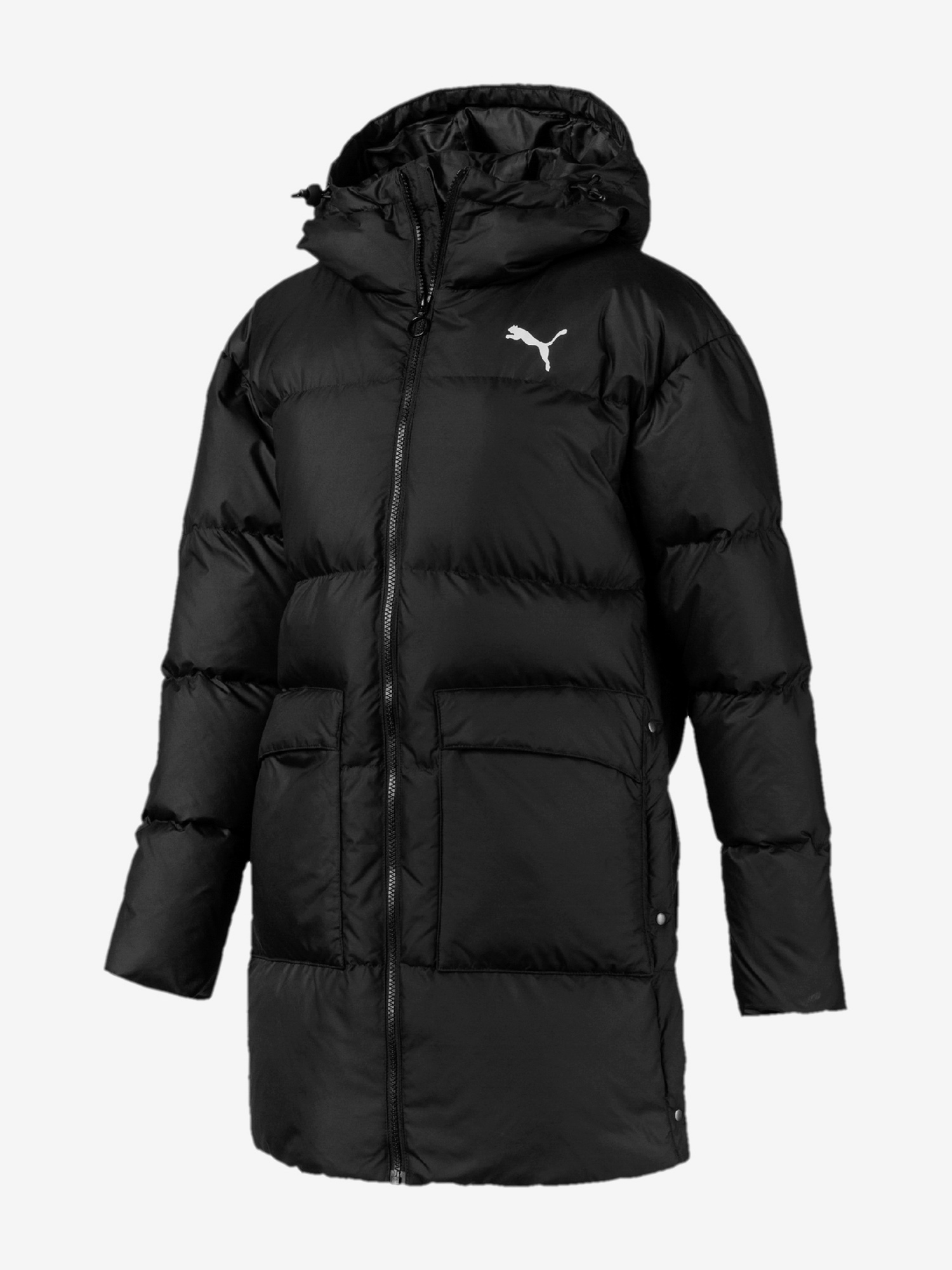 Bunda Puma 450 Long Hooded Down Coat Černá