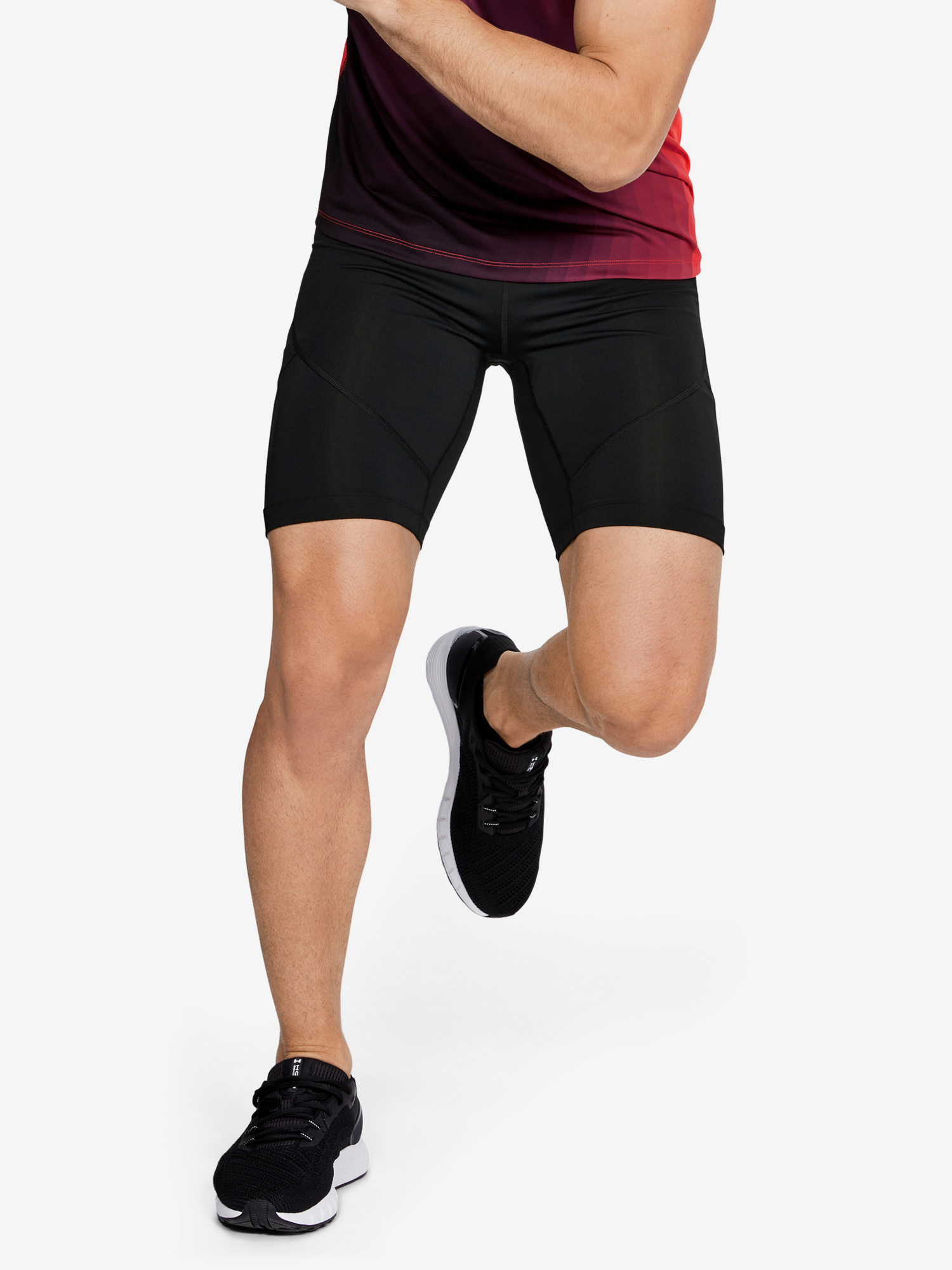 Kompresní šortky Under Armour Rush Run Half Tight-Blk Černá