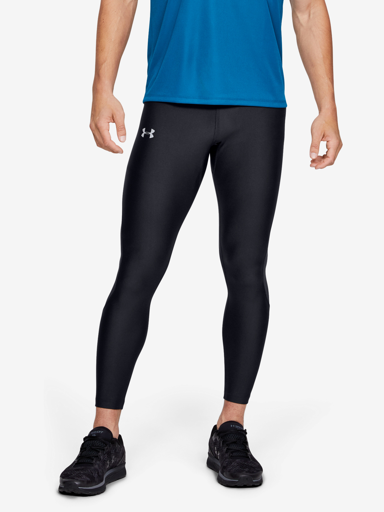 Kompresní legíny Under Armour Speed Stride Tight-Blk (1)
