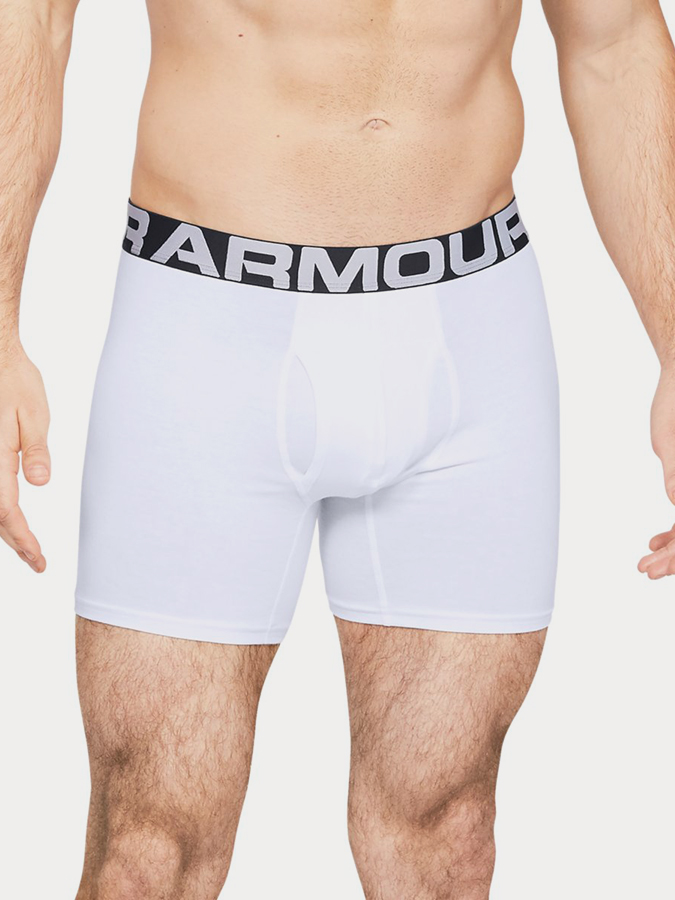 Boxerky Under Armour Charged Cotton 6In 3 Pack Bílá