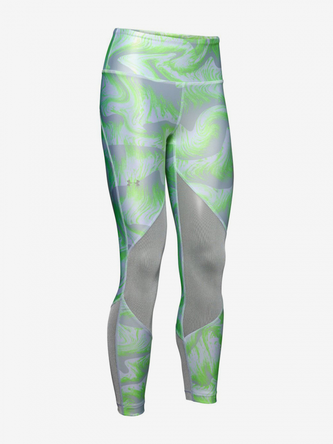 Kompresní legíny Under Armour Hg Mesh Ankle Crop - Print-Grn Barevná