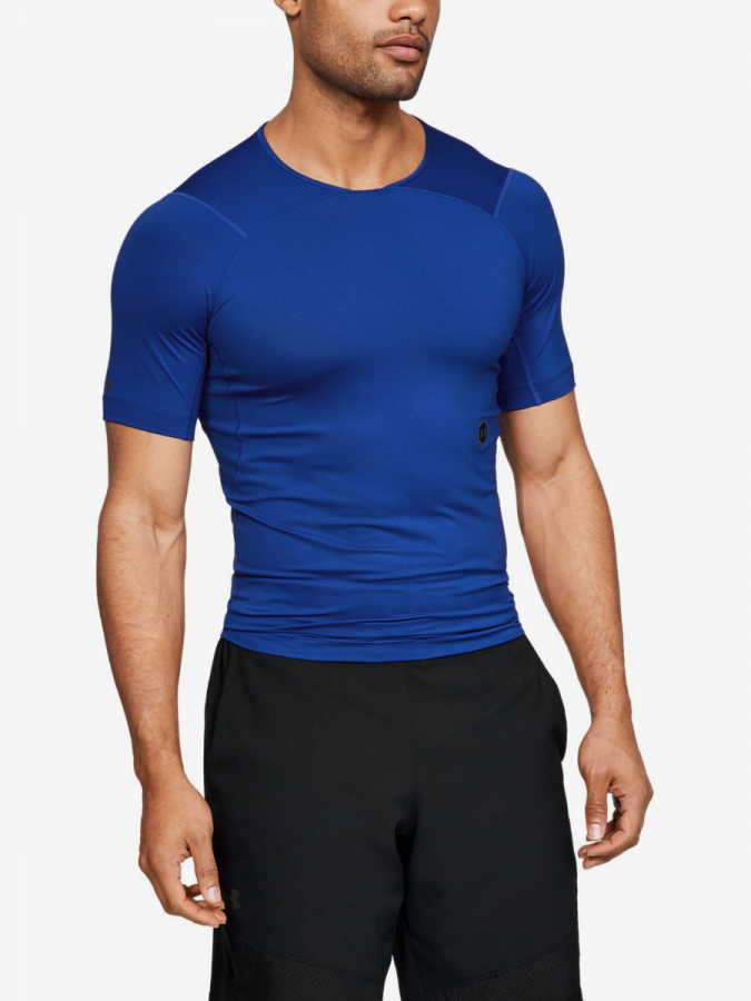 Kompresní tričko Under Armour Hg Rush Compression Ss-Blu Modrá
