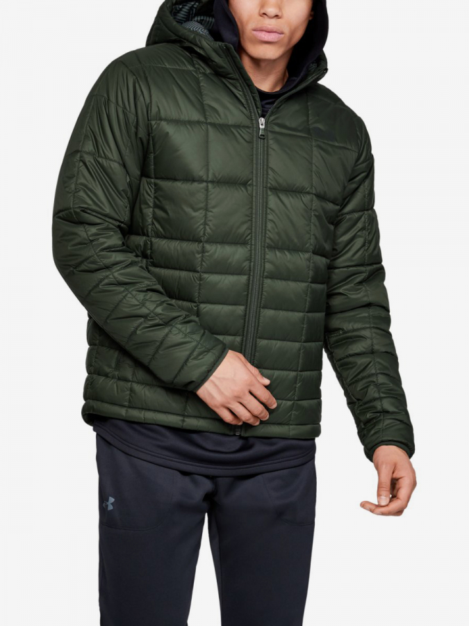 Bunda Under Armour Insulated Hooded Jkt-Grn Zelená