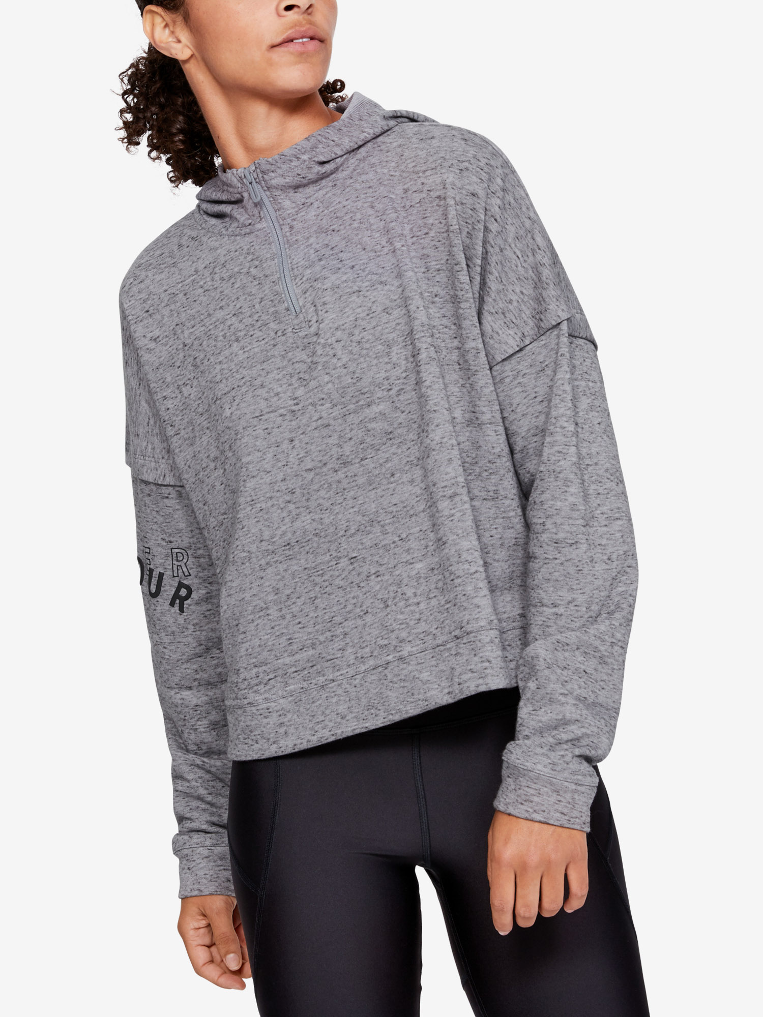 Mikina Under Armour Rival Terry 1 2 Zip Hoodie (1)