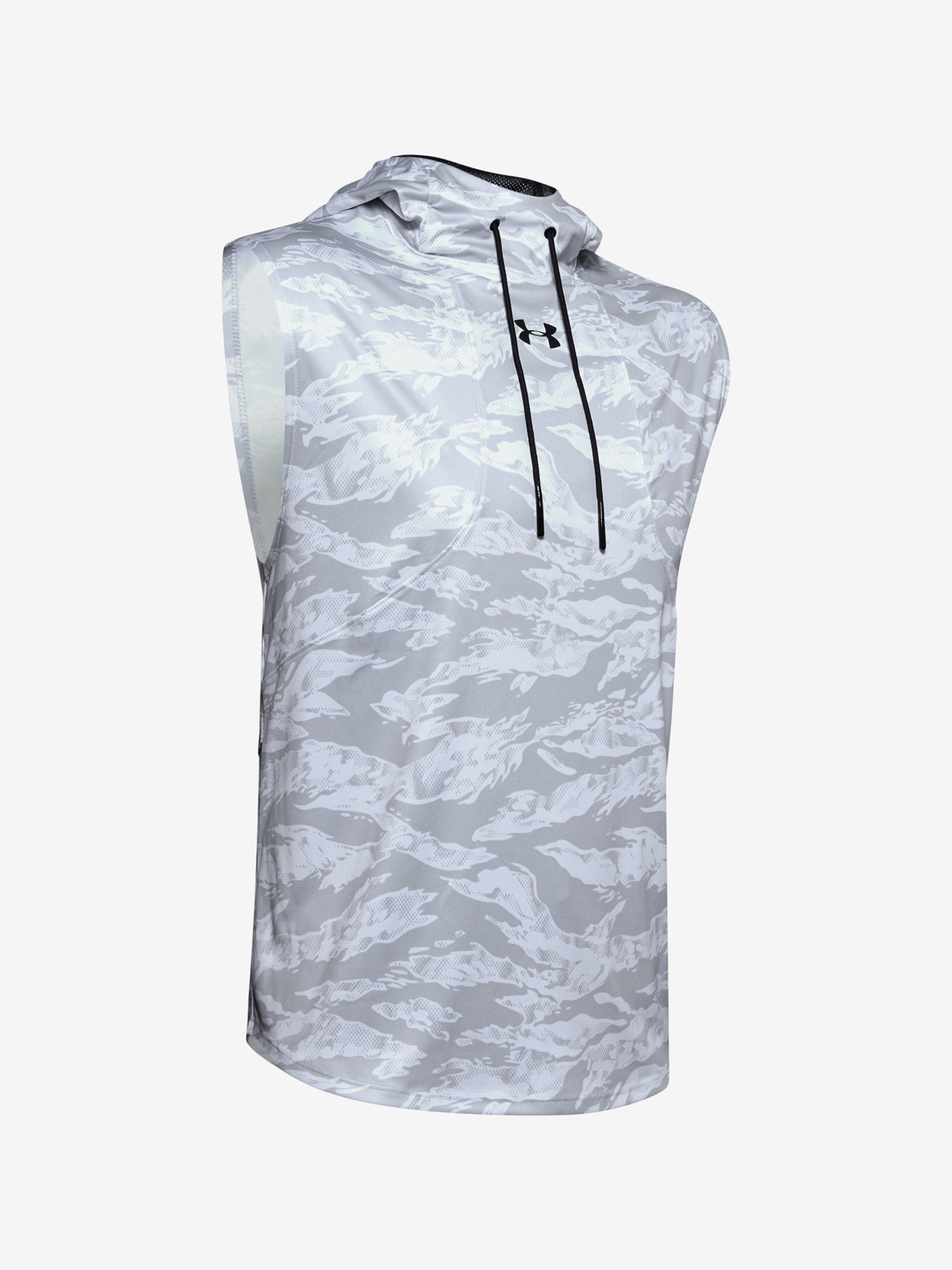 Tričko Under Armour Baseline Syn Sleeveless Hoodie Bílá