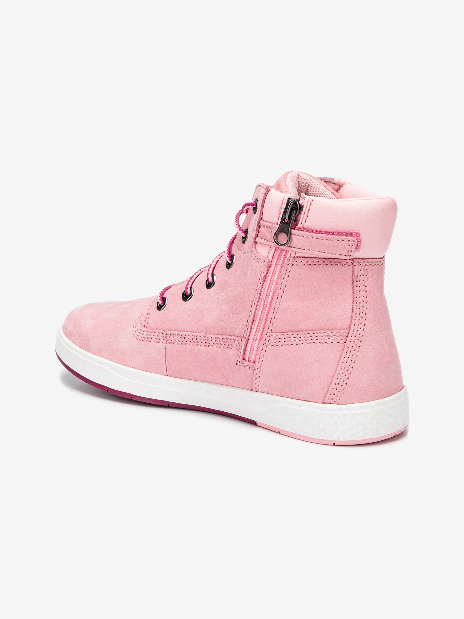 Boty Timberland Davis Square 6 Inch Prism Pink (3)