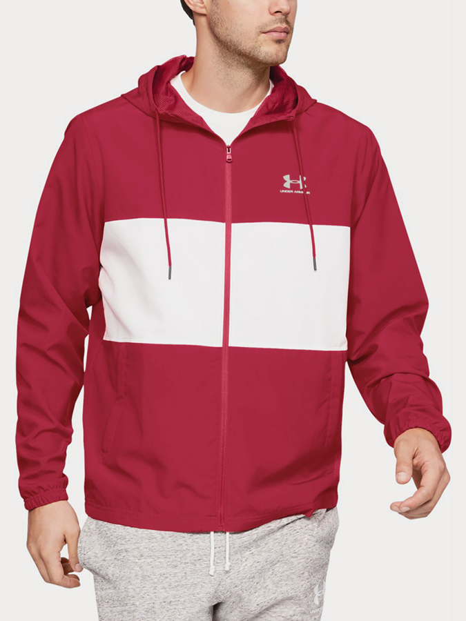 Bunda Under Armour Sportstyle Wind Jacket Červená