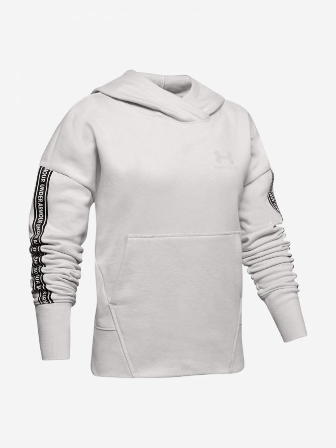 Mikina Under Armour Sportstyle Fleece Hoodie-Wht Bílá