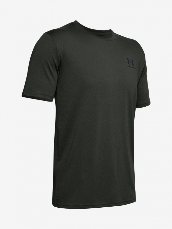 Tričko Under Armour Sportstyle Left Chest Ss-Grn Zelená