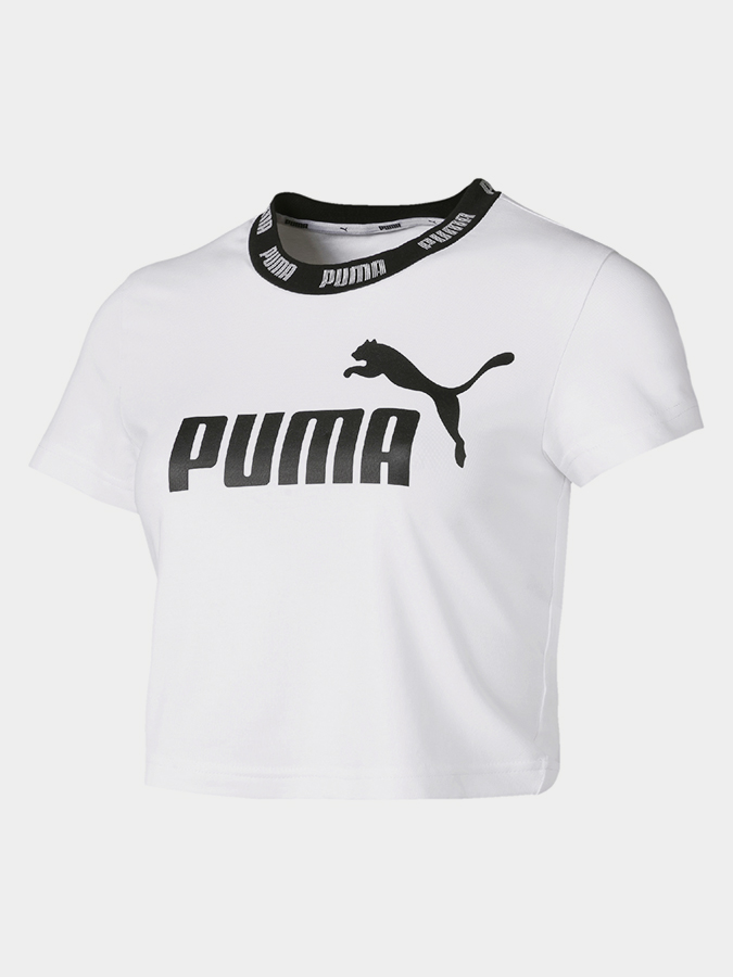 Tričko Puma Amplified Cropped Tee Bílá