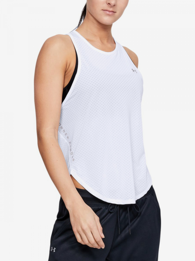 Tílko Under Armour Sport Graphic Tank-Wht Bílá