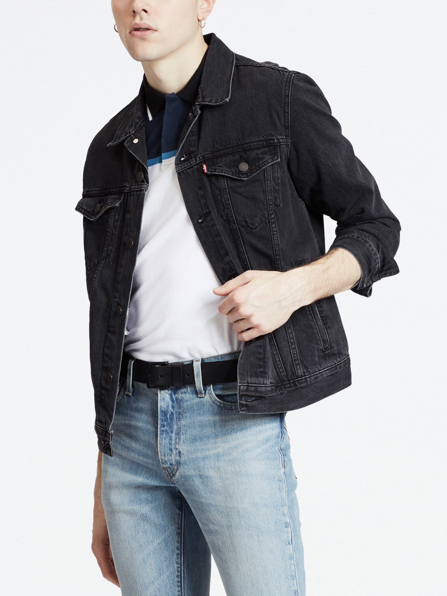 Bunda LEVI'S The Trucker Jacket Liquorice T Šedá
