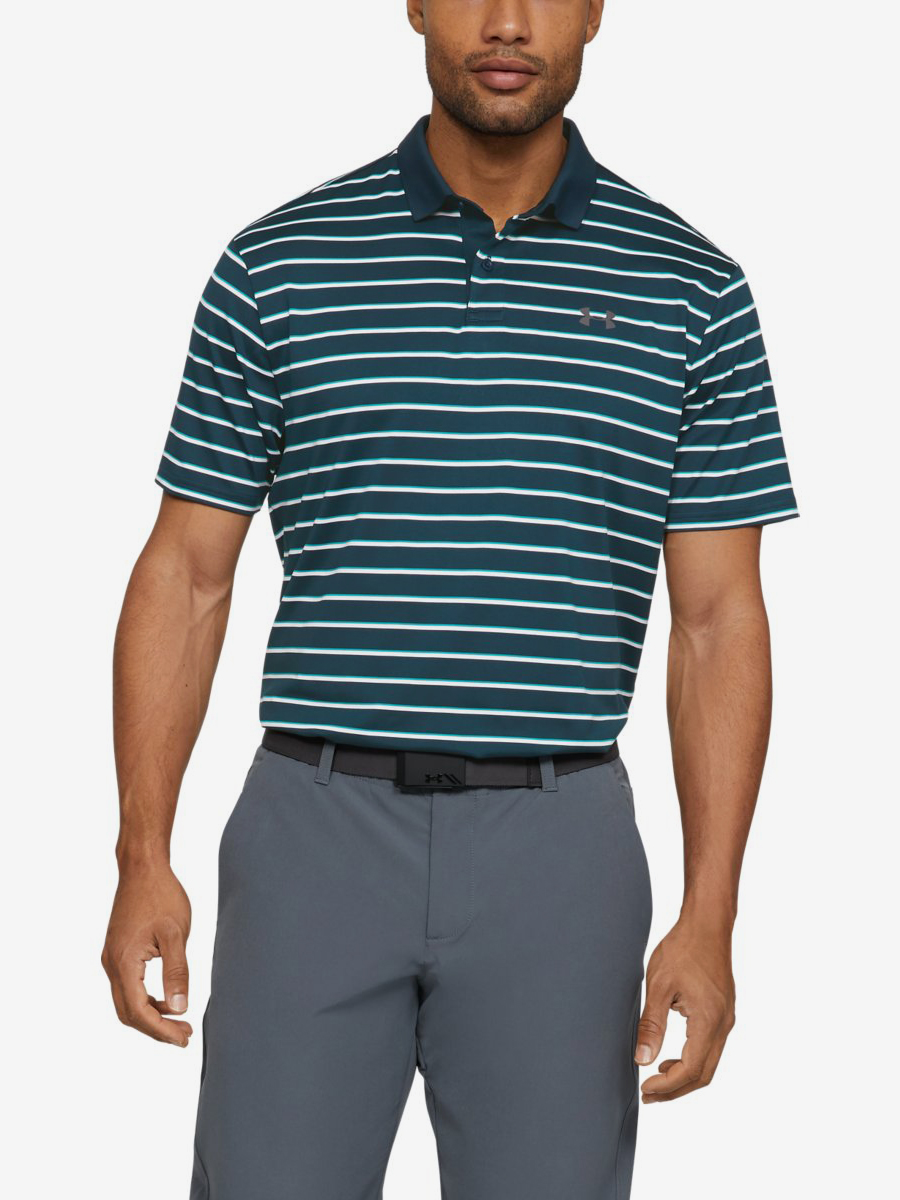 Tričko Under Armour Performance Polo 2.0 Divot Stripe-Grn Zelená