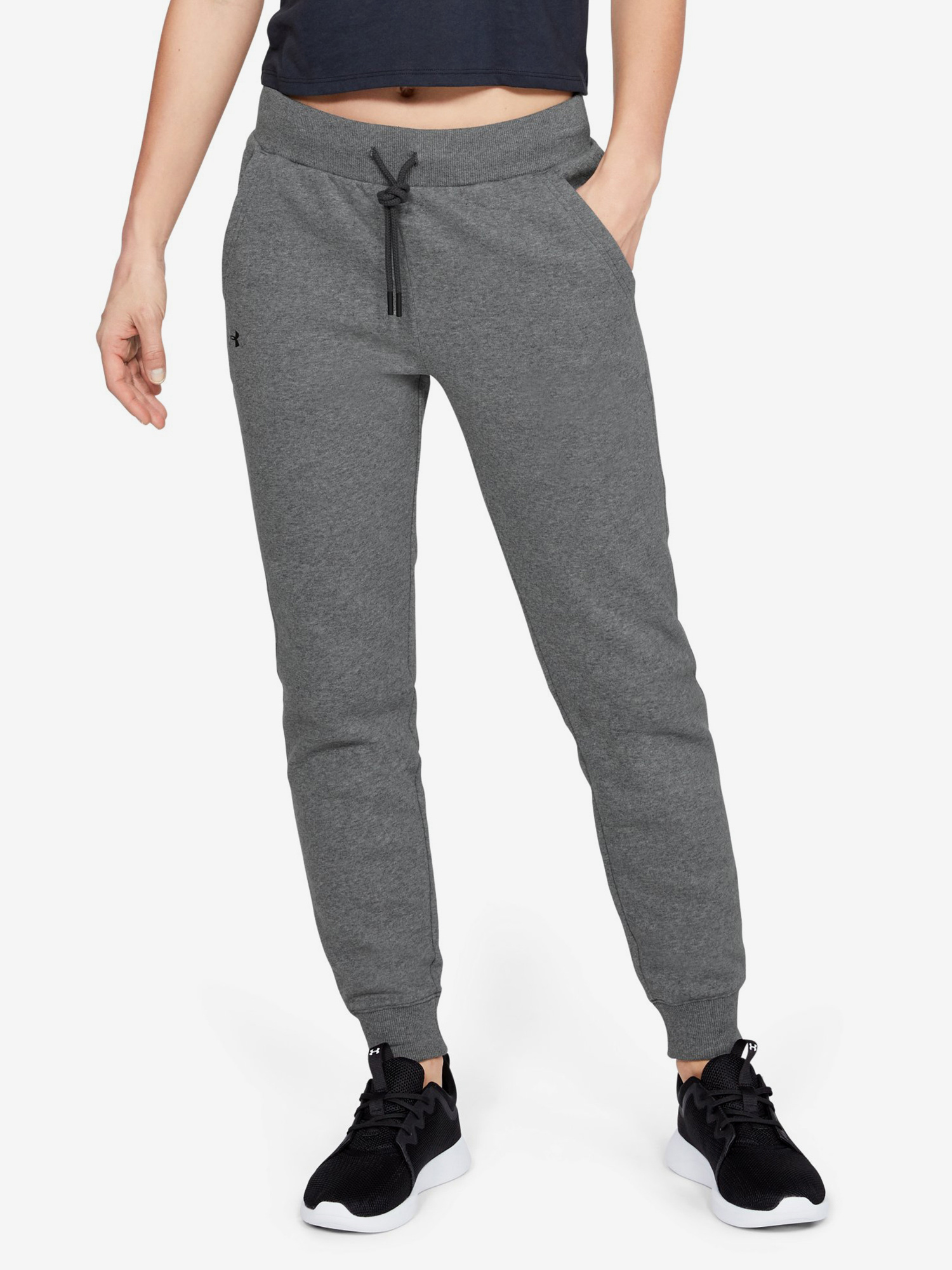 Tepláky Under Armour Rival Fleece Solid Pants-Gry