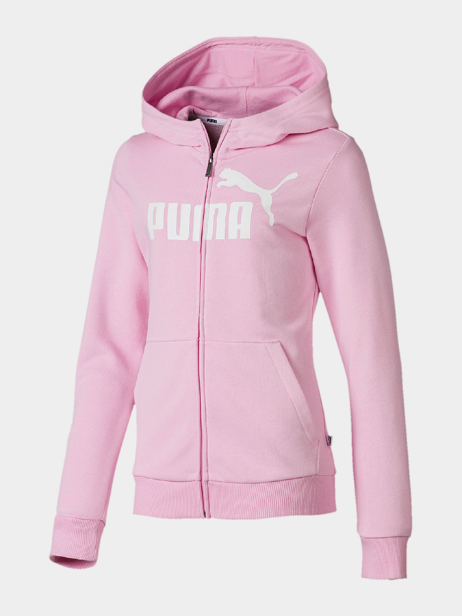 Mikina Puma Essentials Hooded Jacket Růžová