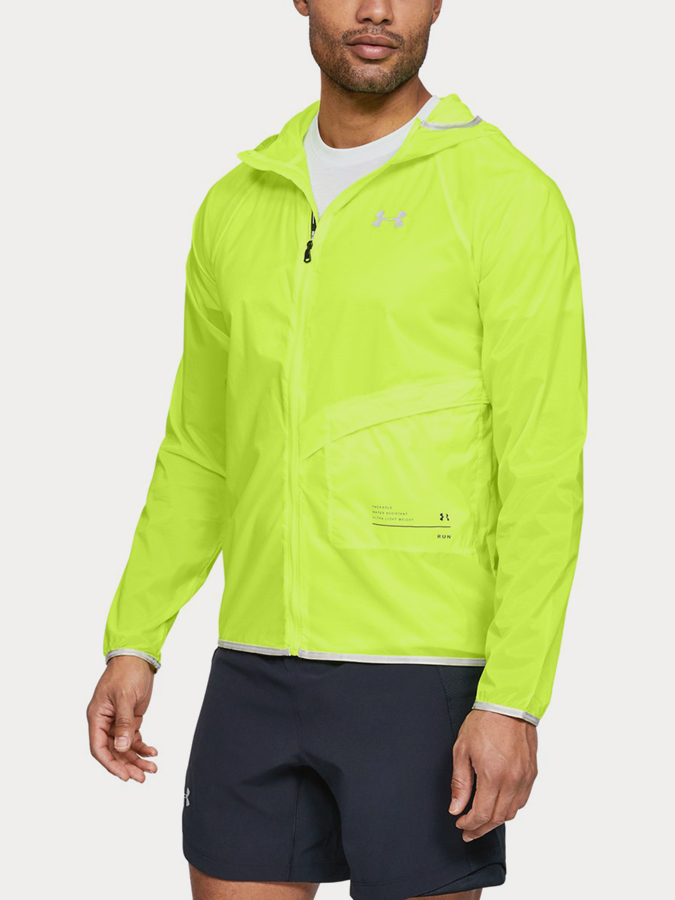 Bunda Under Armour Qlifier Storm Packable Jacket Žlutá