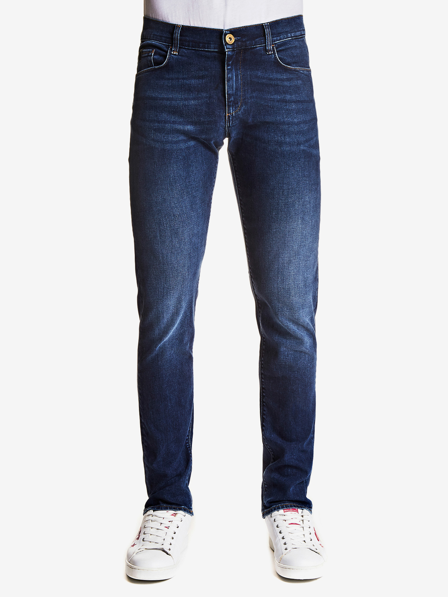 Džíny Trusssardi 370 Close Fantasy Denim Hiver Bicolor Super Stretch Modrá
