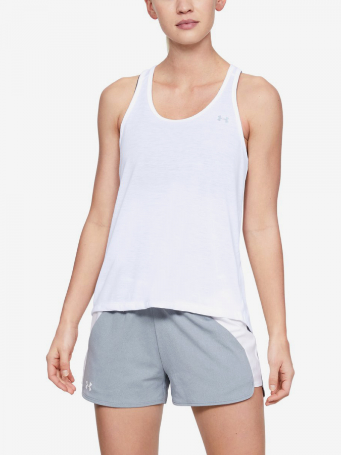 Tílko Under Armour Whisperlight Tie Back Tank-Wht Bílá