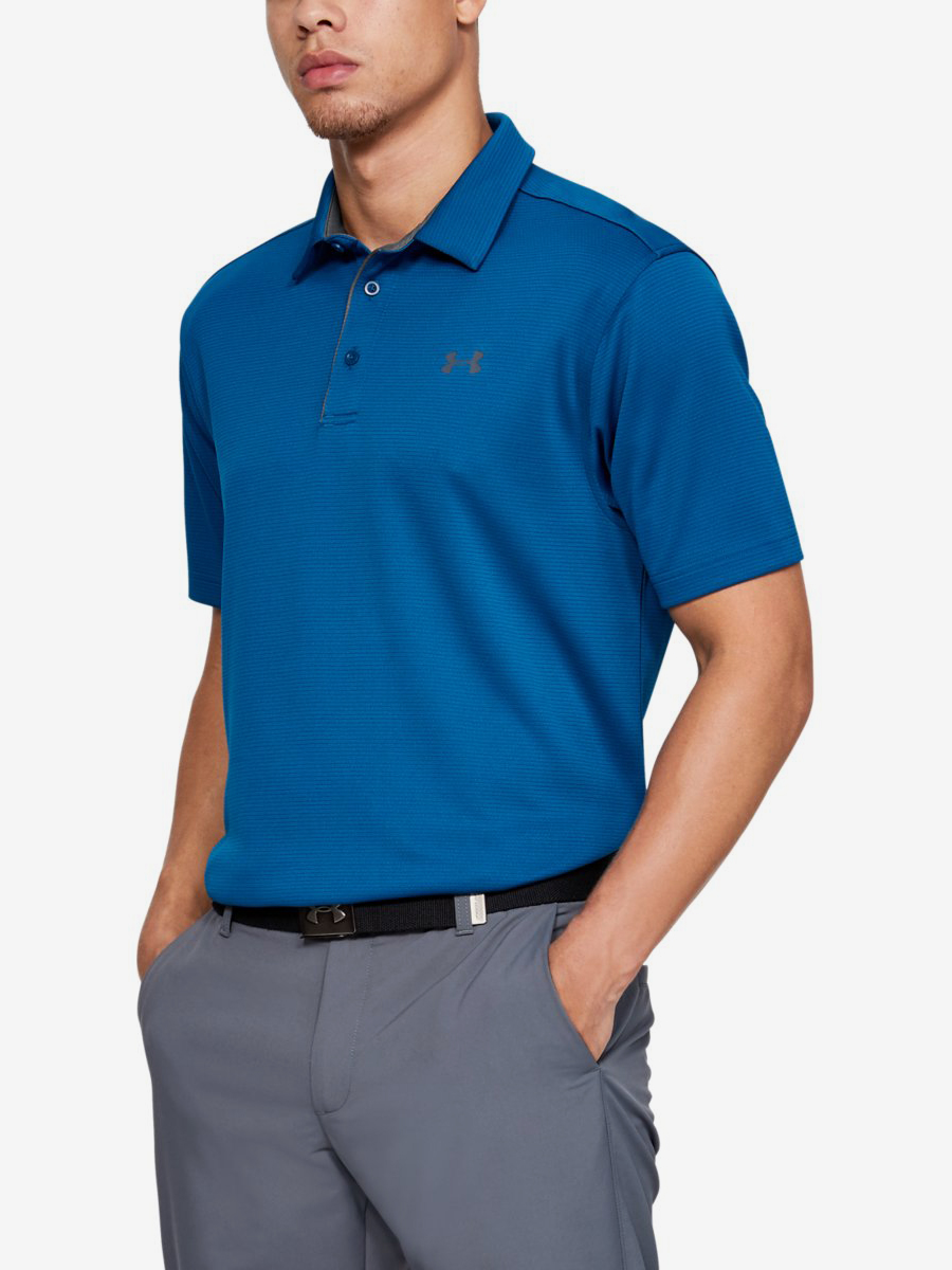 Tričko Under Armour Tech Polo-Grn Modrá