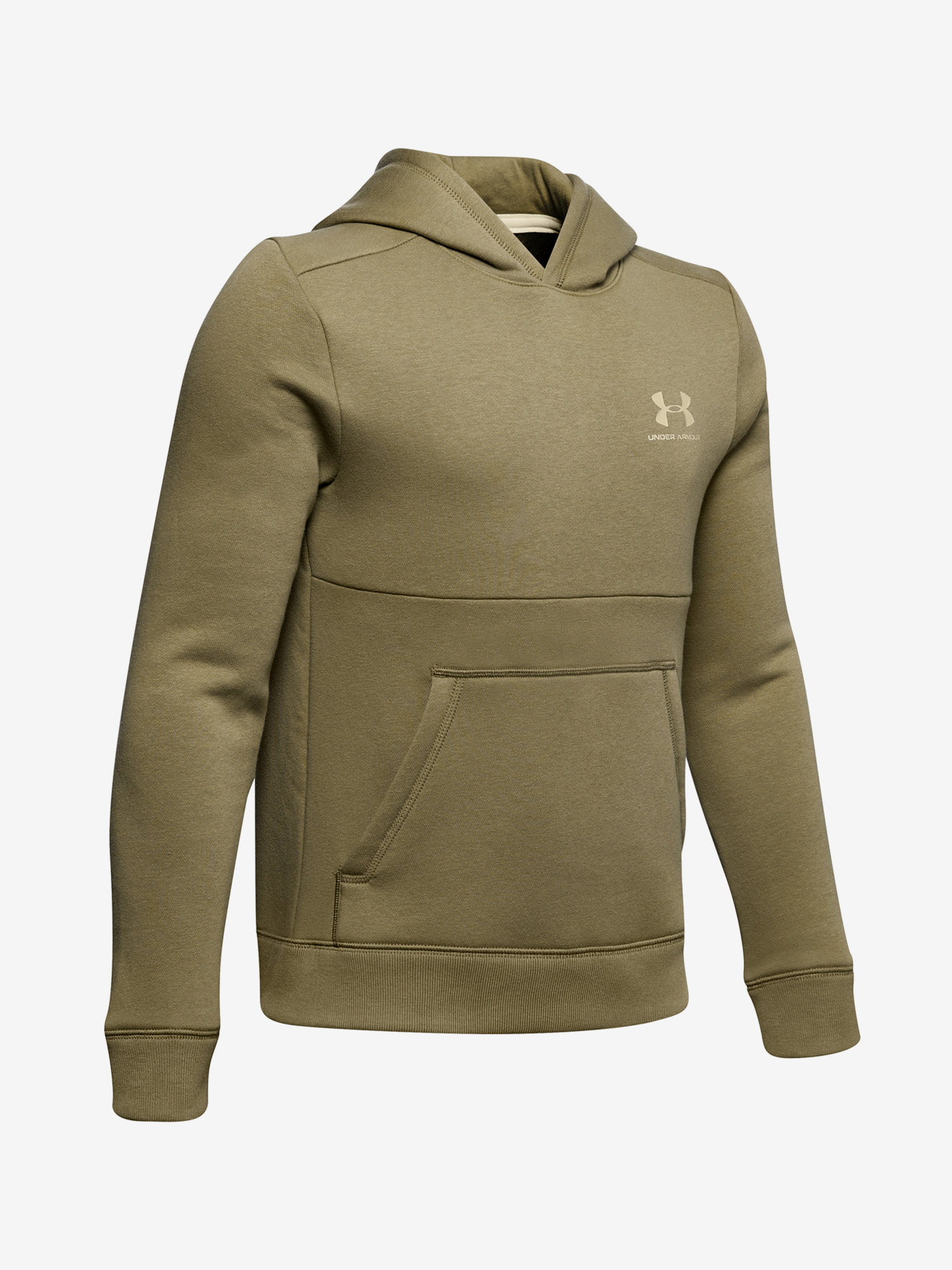 Mikina Under Armour Cotton Fleece Hoodie-Grn Zelená