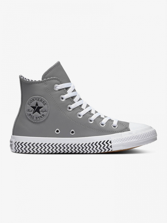 Boty Converse Chuck Taylor All Star Vltg Leather Šedá
