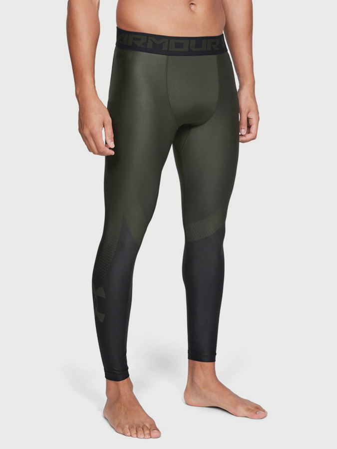 Kompresní legíny Under Armour HG 2.0 Legging Grphc Zelená