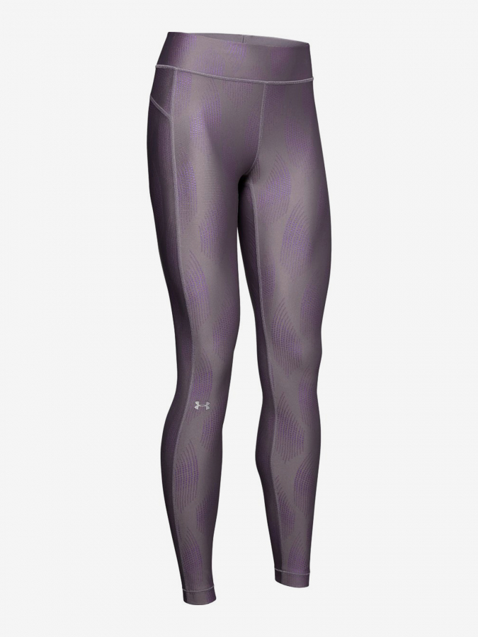 Kompresní legíny Under Armour Hg Legging Metallic-Gry Fialová