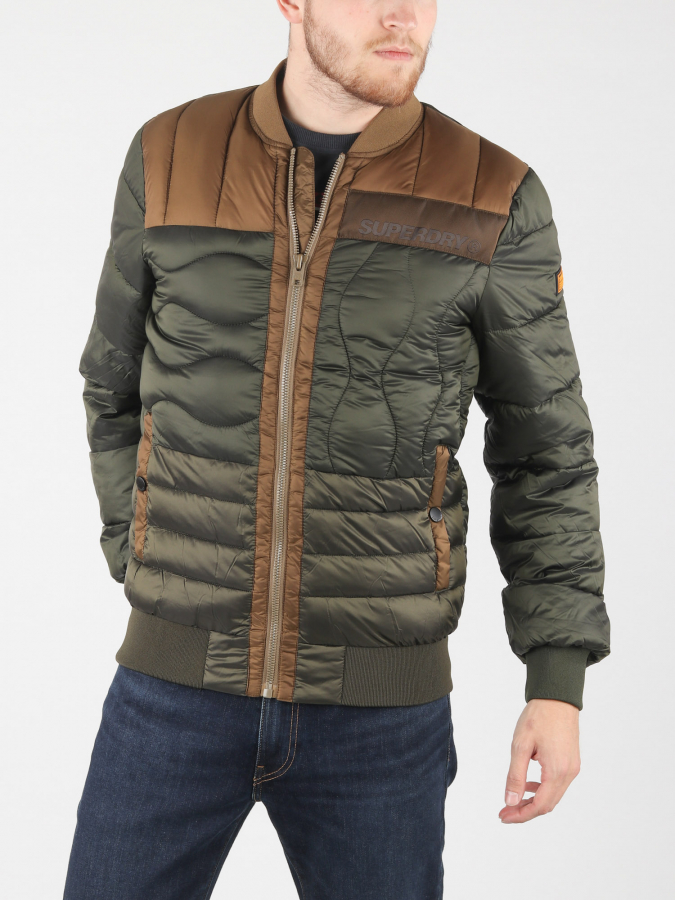 Bunda Superdry Convex Mixed Quilt Bomber