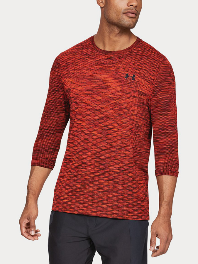 Tričko Under Armour Vanish Seamless 3/4 Sleeve Červená