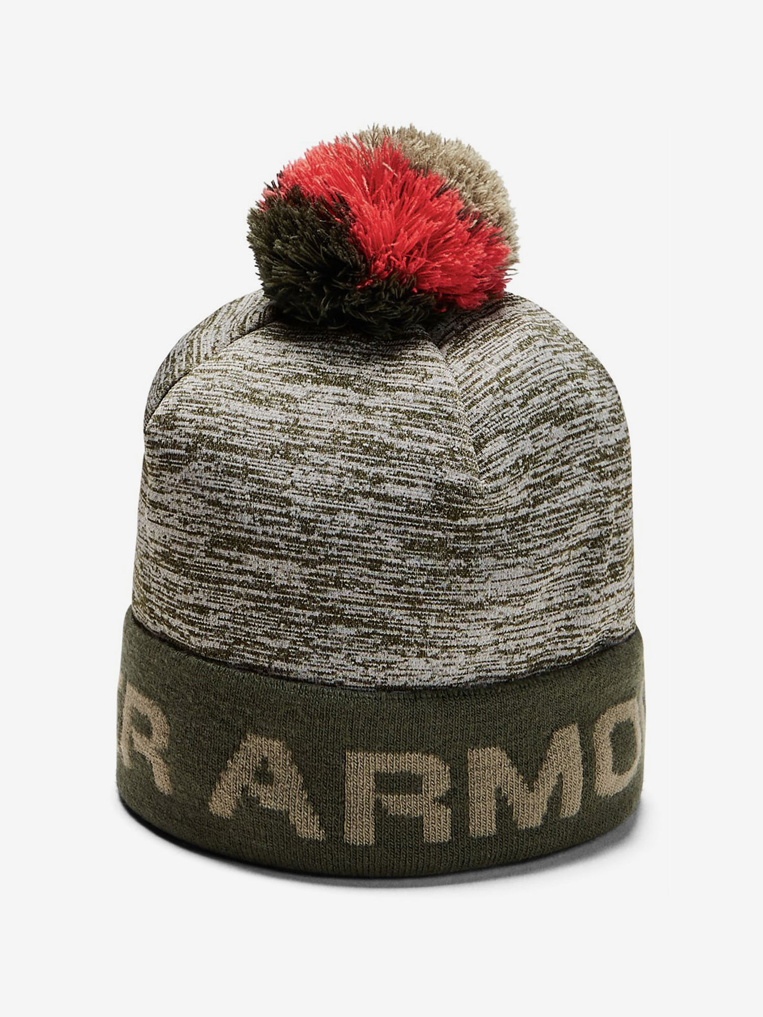 Čepice Under Armour Boy\'S Gametime Pom Beanie-Grn Zelená