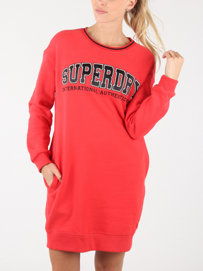Šaty Superdry Urban Street Sweat Dress Červená