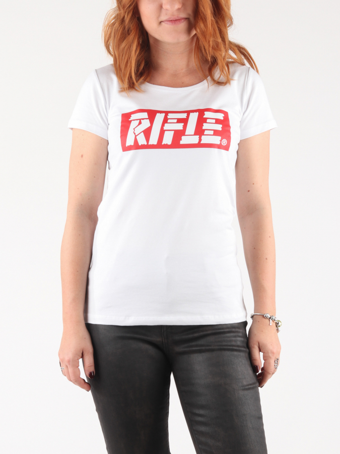 Tričko Rifle W-T-Shirt G/Collo Mc Bílá