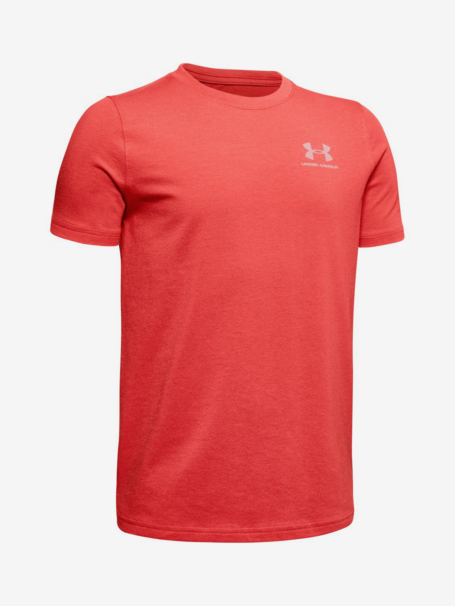 Tričko Under Armour Cotton Ss-Red Červená