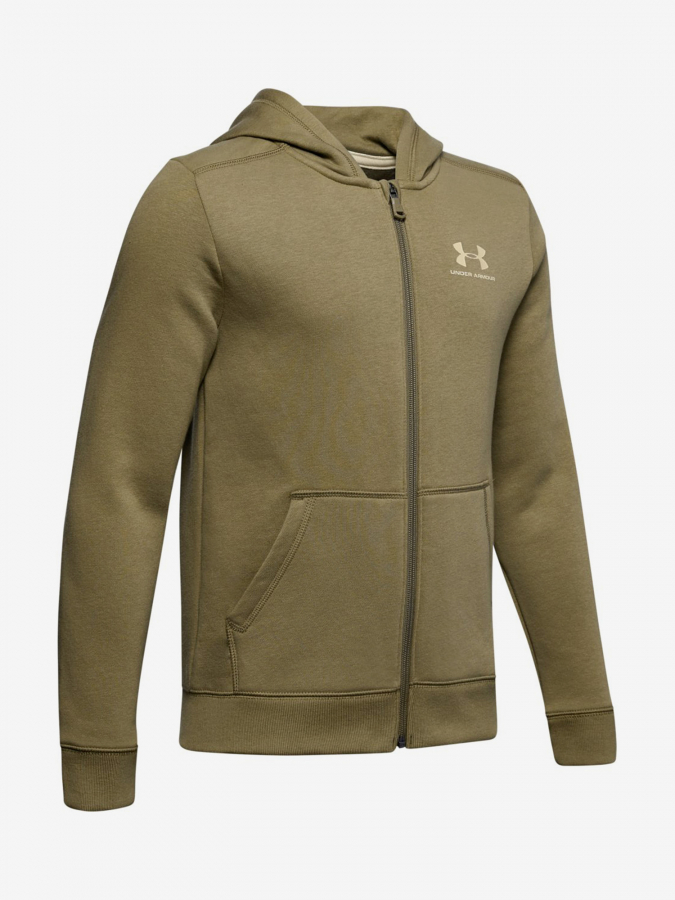 Mikina Under Armour Cotton Fleece Full Zip-Grn Hnědá