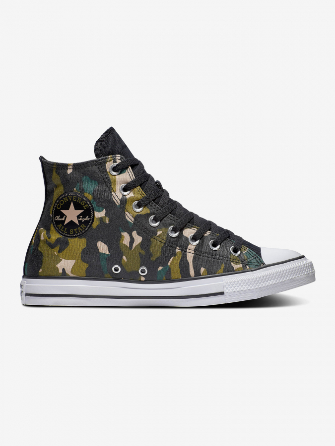 Boty Converse Chuck Taylor All Star Wordmark And Camo Print Barevná