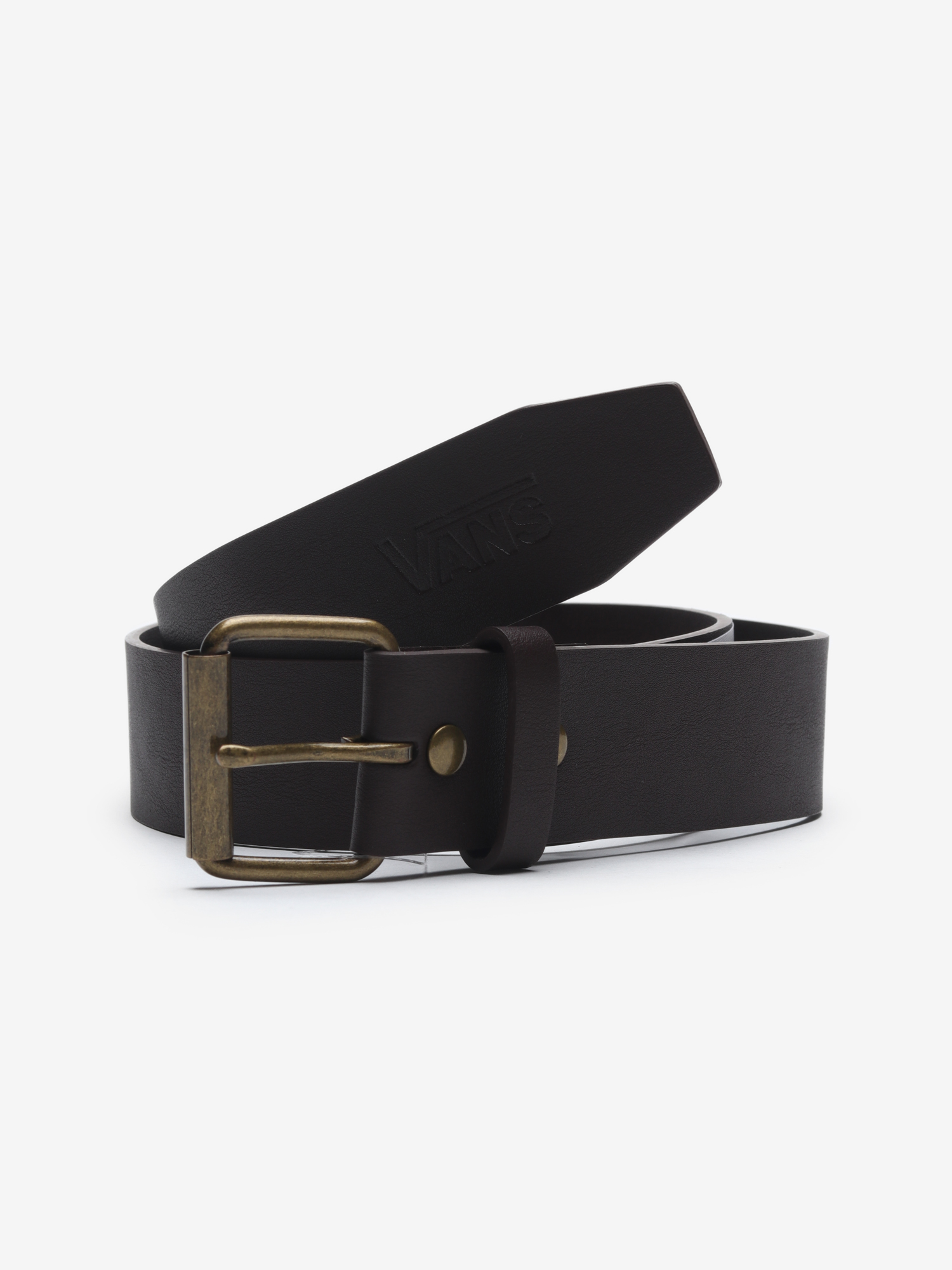 Pásek Vans Mn Hunter Ii Pu Belt Dark Brown Hnědá