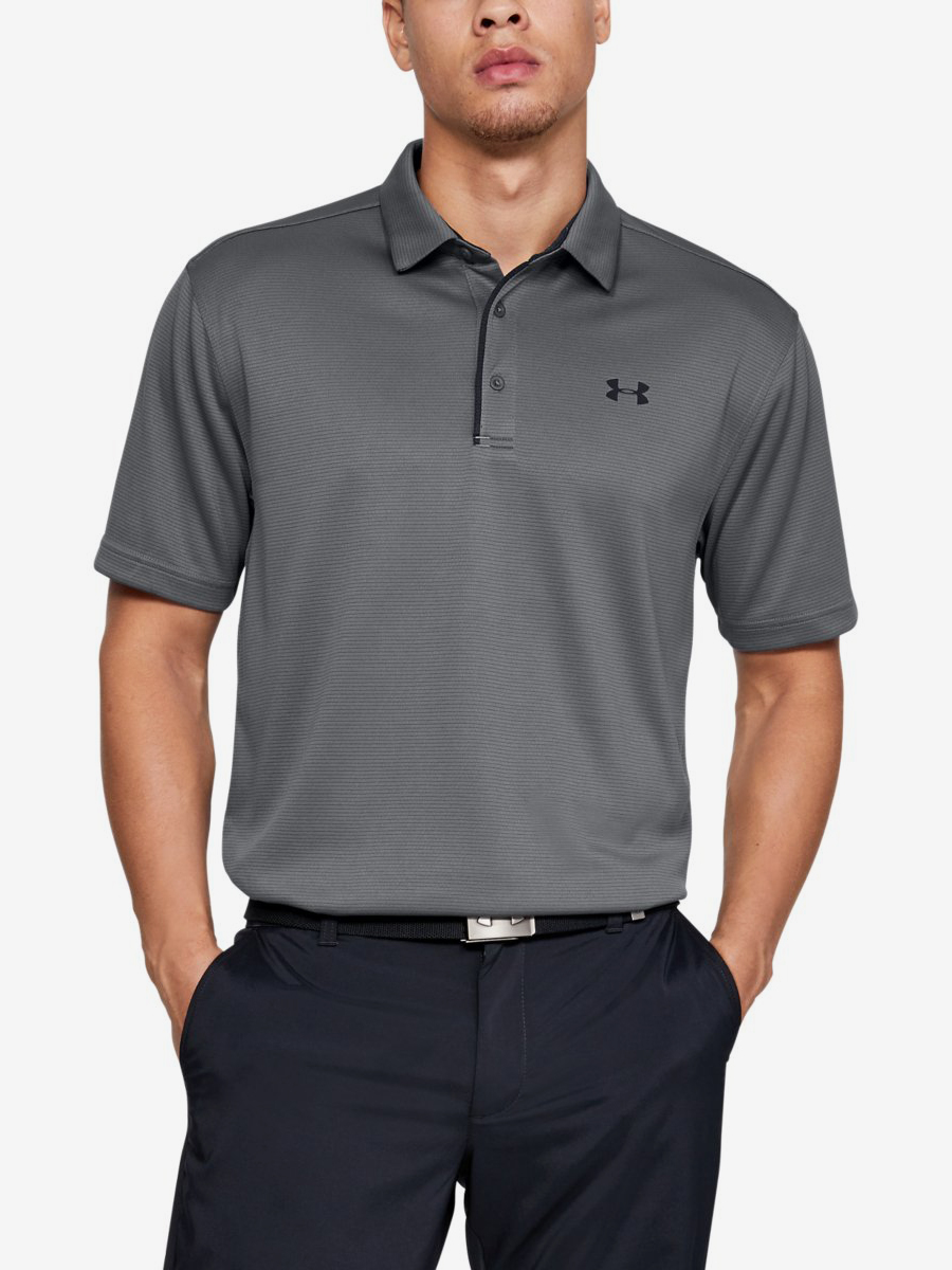 Tričko Under Armour Tech Polo-Gry Šedá