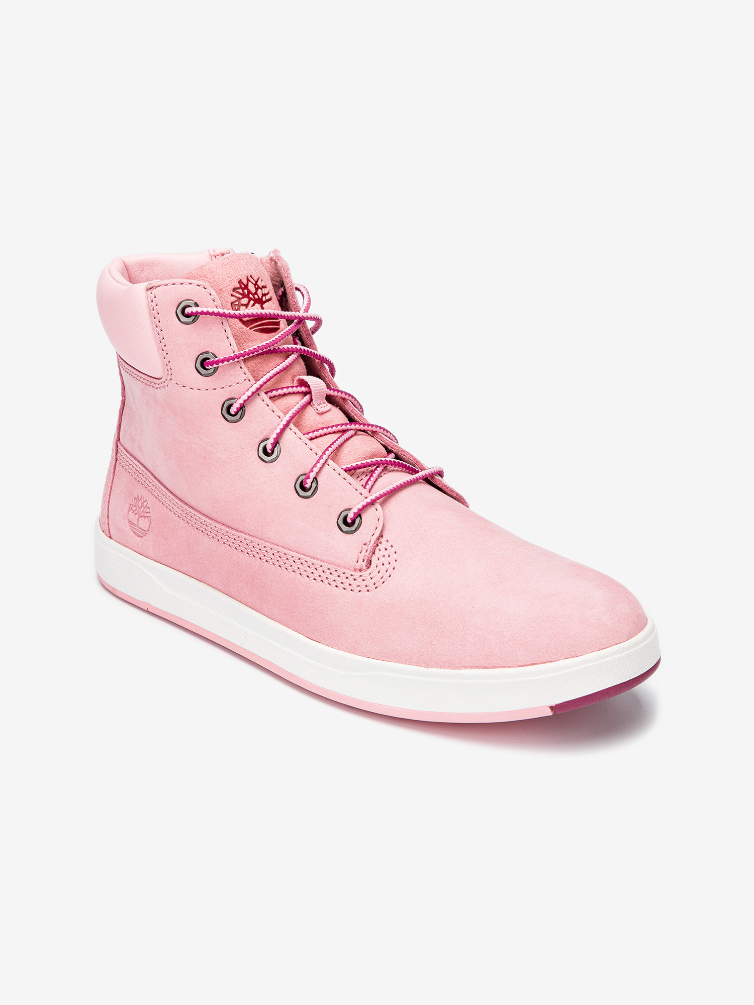 Boty Timberland Davis Square 6 Inch Prism Pink (2)