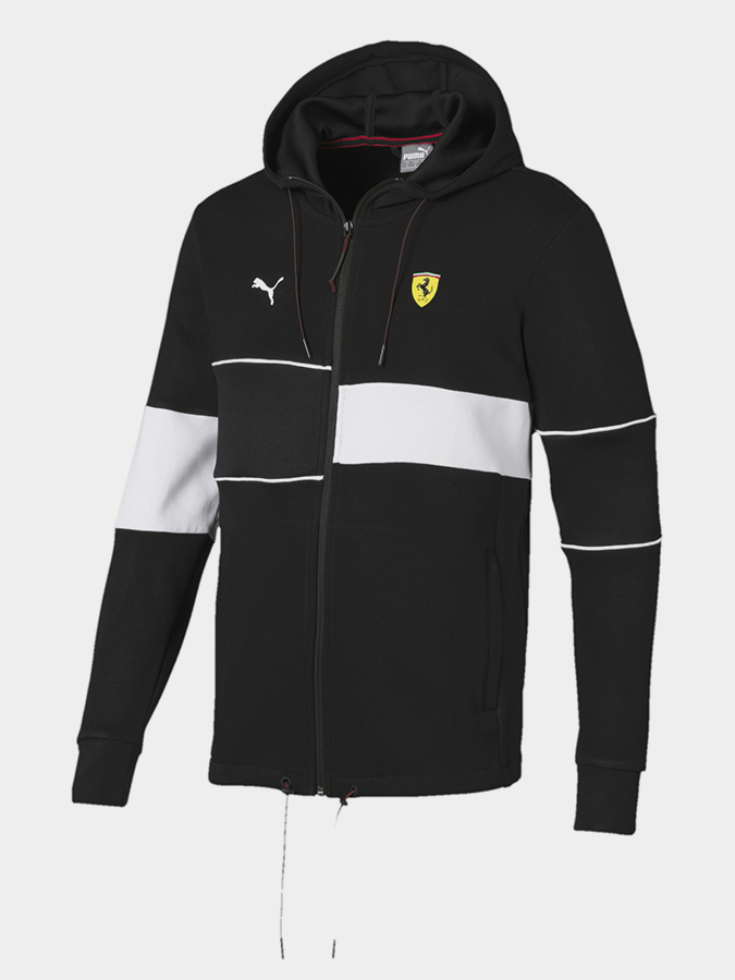 Bunda Puma SF Hooded Sweat Jacket Black Černá