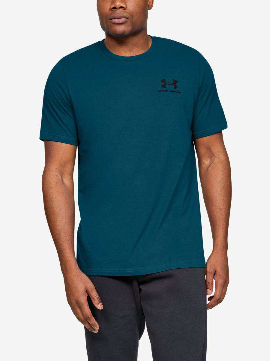 Tričko Under Armour Sportstyle Lc Back Tee-Grn Modrá