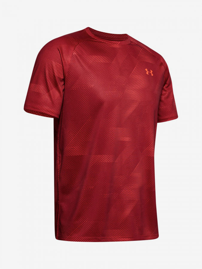 Tričko Under Armour Tech 2.0 Ss Printed-Red Červená