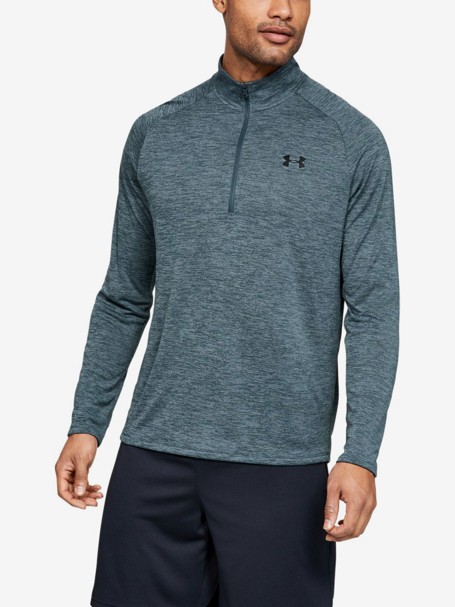 Tričko Under Armour Tech 2.0 1/2 Zip-Gry Zelená