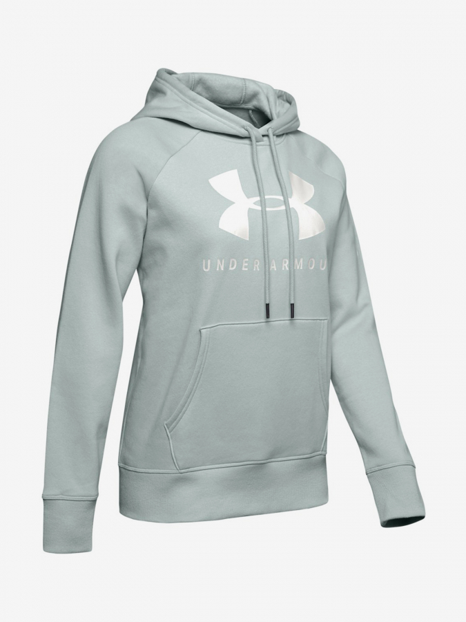 Mikina Under Armour Rival Fleece Sportstyle Graphic Hoodie-G Zelená