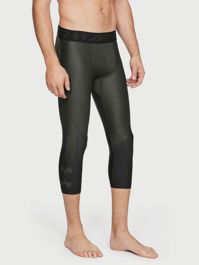 Kompresní legíny Under Armour HG 2.0 3/4 LeggingNov Zelená