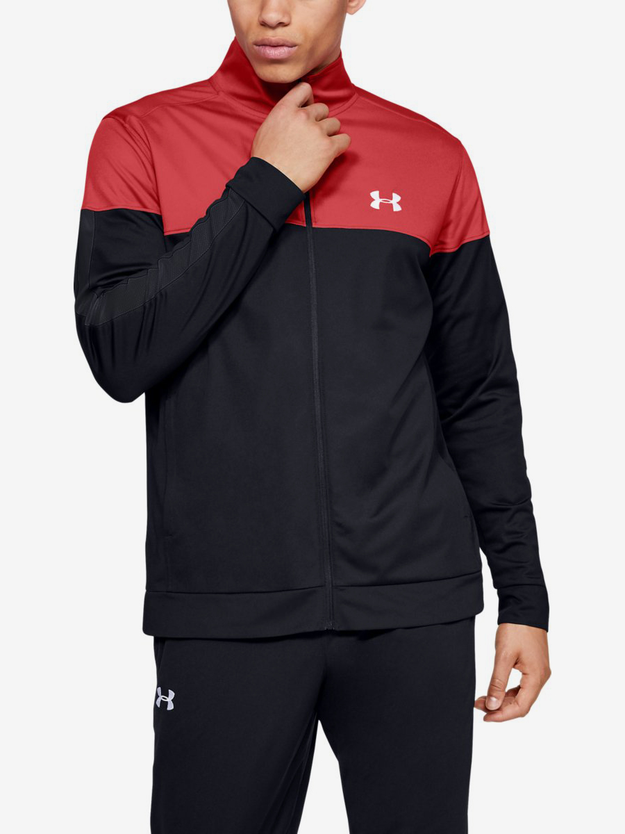 Bunda Under Armour Sportstyle Pique Track Jacket-Red Černá