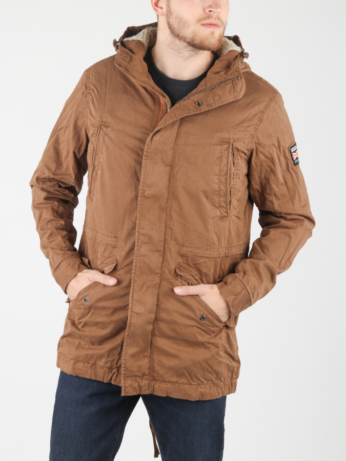 Bunda Superdry New Military Parka Hnědá