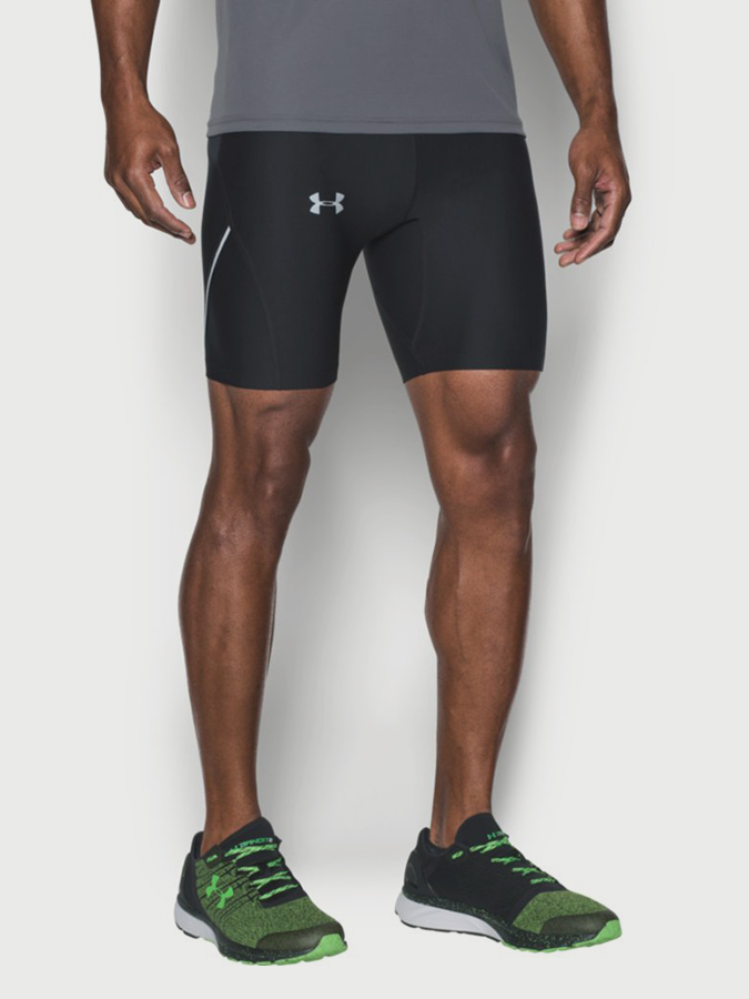 Kompresní šortky Under Armour Run True Heatgear Half Tight Černá
